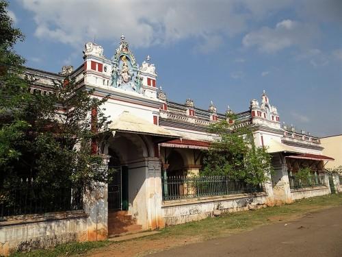 Belle maison de la région du Chettinad, Inde du sud