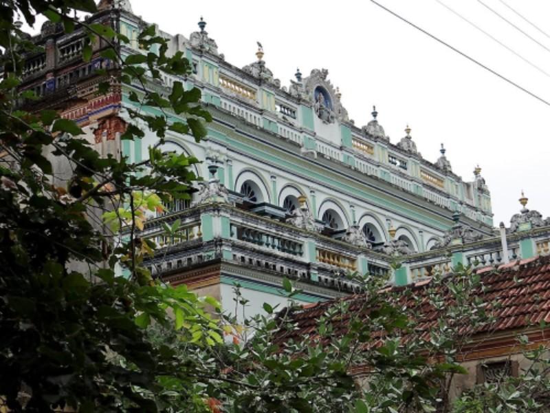 Palais de la région du Chettinad, vert pastel