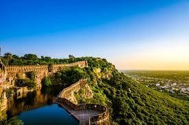 Rajasthan vue d'avion d'une citadelle sur une colline