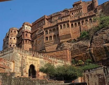 Jodhpur Vue du bas de la citadelle