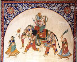 Inde peinture en miniature